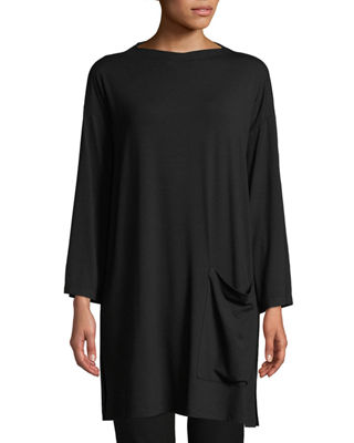 Eileen Fisher Bateau-Neck Jersey Tunic, Petite and Matching