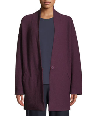 Eileen Fisher Lightweight Boiled Wool Kimono Jacket