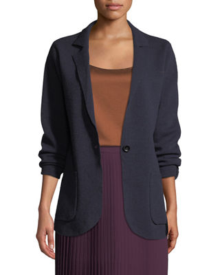 Eileen Fisher Washable Wool Crepe Blazer Jacket, Plus