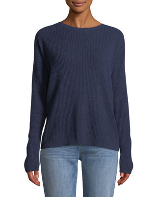 Eileen Fisher Ribbed Long-Sleeve Cashmere Sweater and Matching
