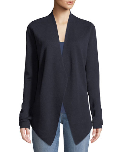 Eileen Fisher Angle-Front Silky Tencel Cardigan, Plus Size