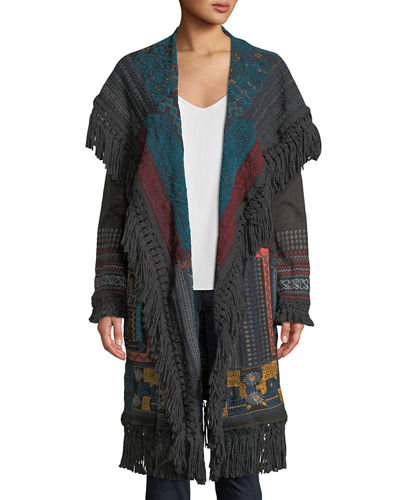 Bennai Open-Front Duster Jacket
