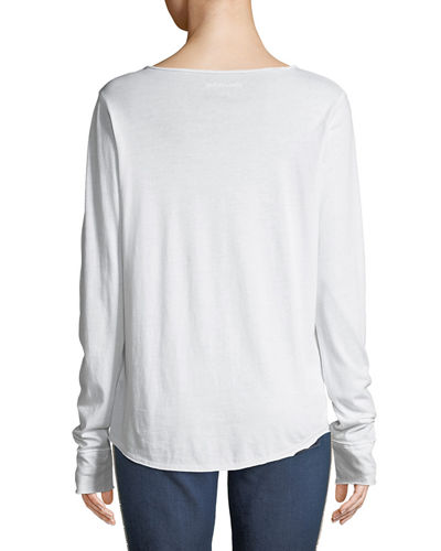 Tunisien Embellished Long-Sleeve Tee
