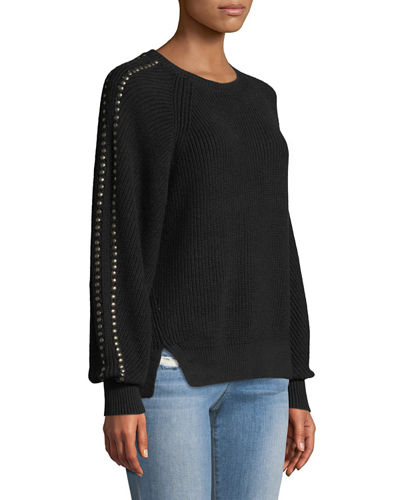 Daxton Studded Crewneck Sweater