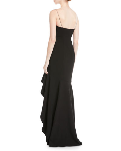 Vita Ruffle High-Low Slip Gown