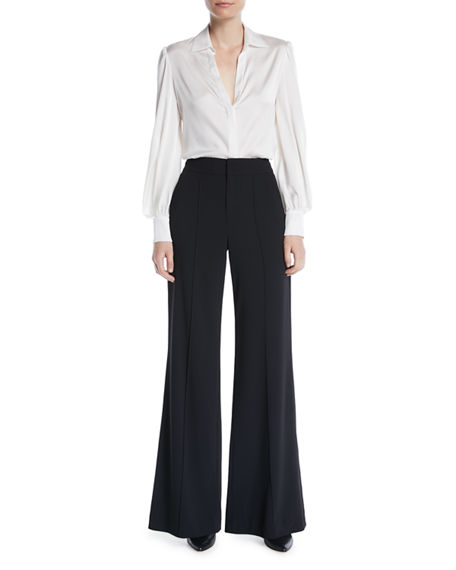 Image 3 of 3: Alice + Olivia Dylan High-Waist Wide-Leg Pants