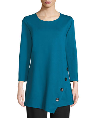 Caroline Rose 3/4-Sleeve Easy-Fit Ponte Luxe Tunic w/
