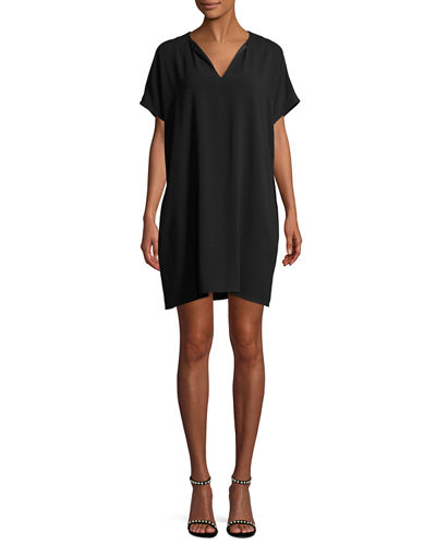 Kora New Short-Sleeve Shift Dress