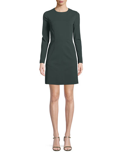 New Capreena Long-Sleeve Jersey A-line Dress