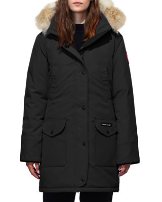 Canada Goose Trillium Down Parka Coat w/ Natural Coyote Fur Trim