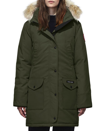 Trillium Down Parka Coat w/ Natural Coyote Fur Trim