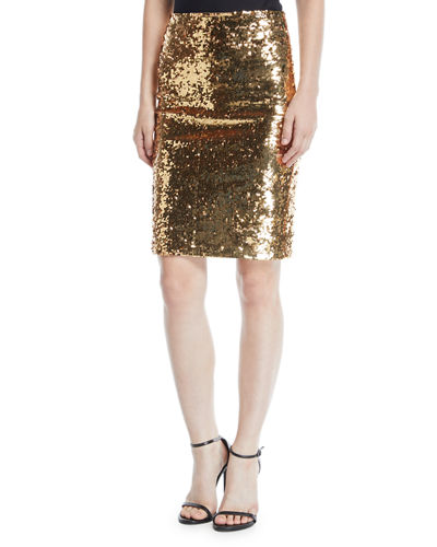 Ramos Sequin Pencil Skirt