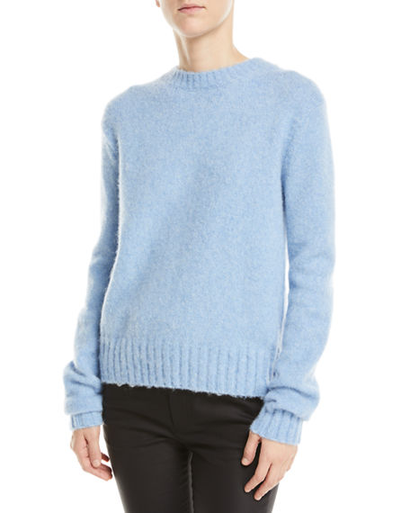 1ad0f998882b34 Image 1 of 4: Helmut Lang Brushed Wool-Alpaca Crewneck Pullover Sweater