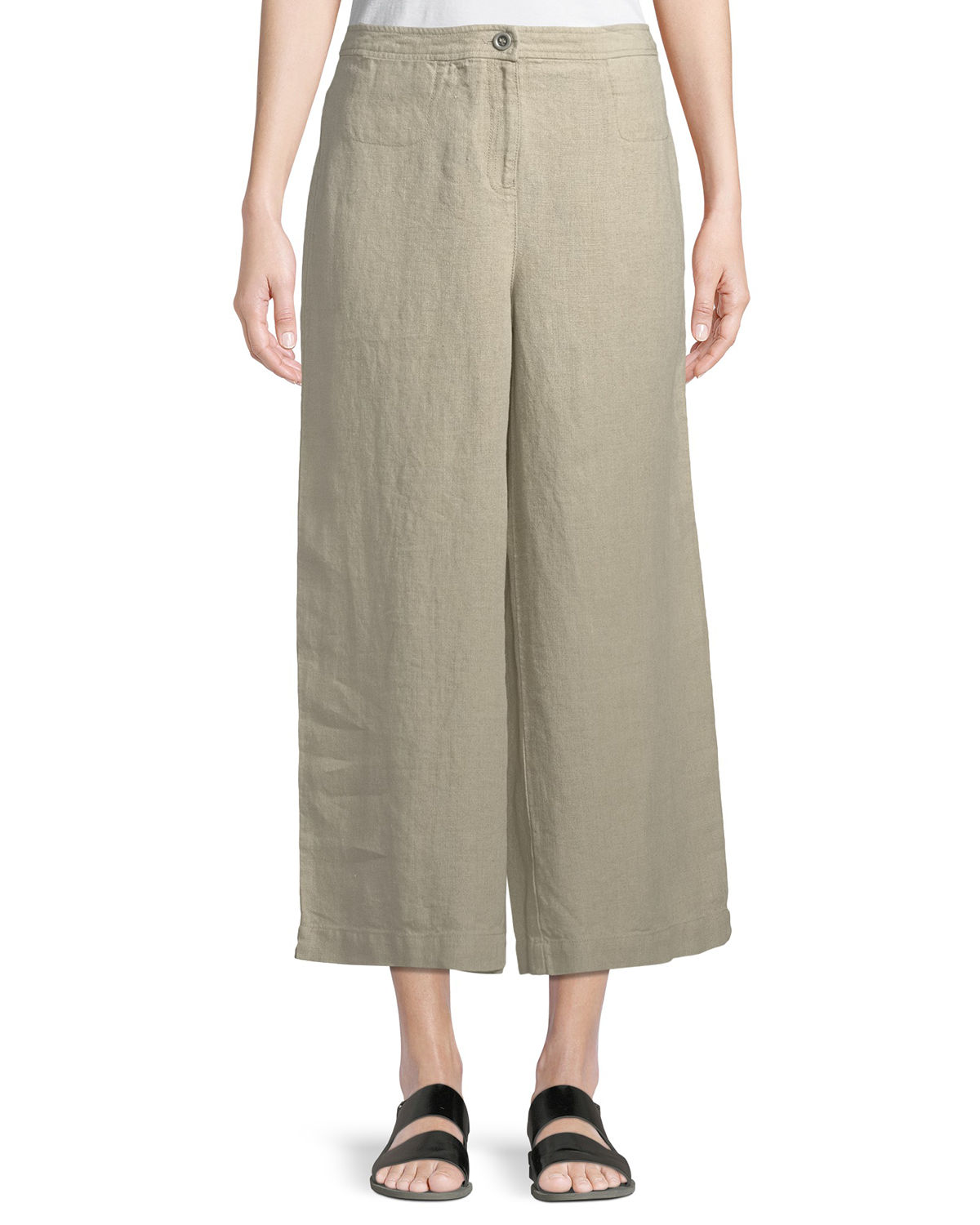 Olivo petite ivory wide leg crop pants teen anal sex