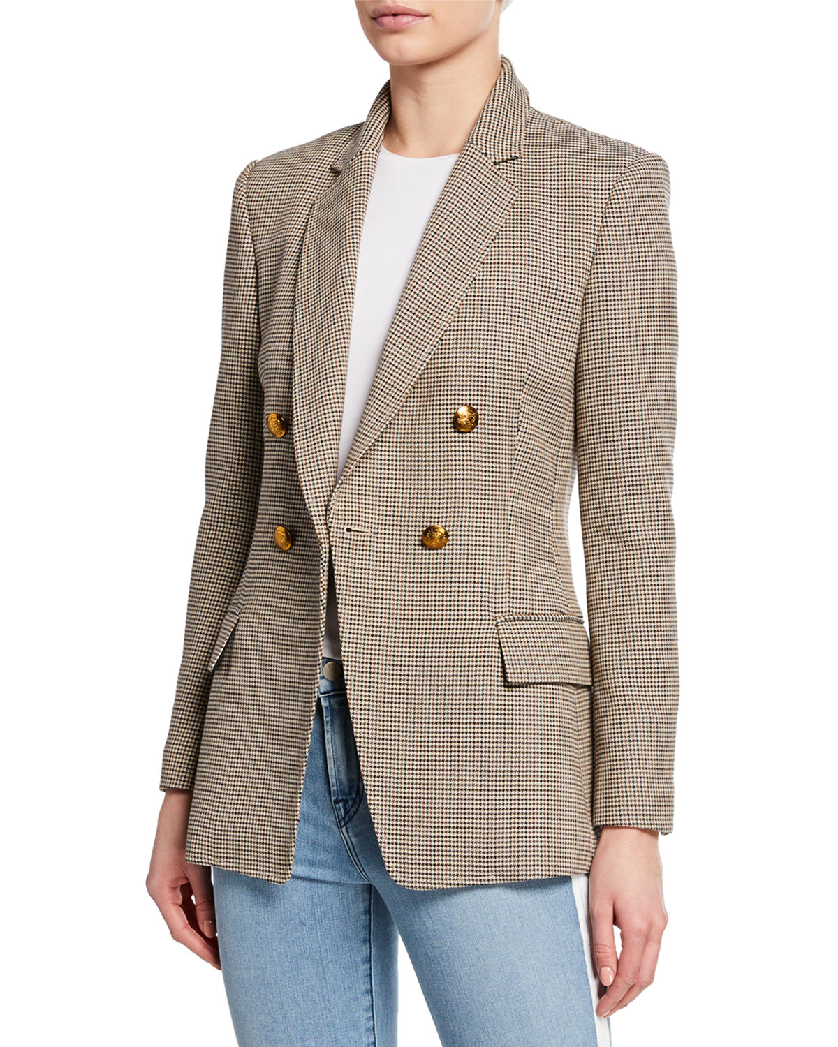 A.L.C. Sedgwick Double-Breasted Houndstooth Blazer  2eea5c8506e32