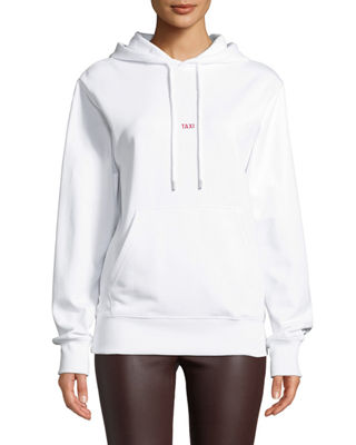 Helmut Lang Taxi Graphic Cotton Pullover Hoodie