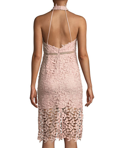 Gemma Lace Halter Cocktail Dress