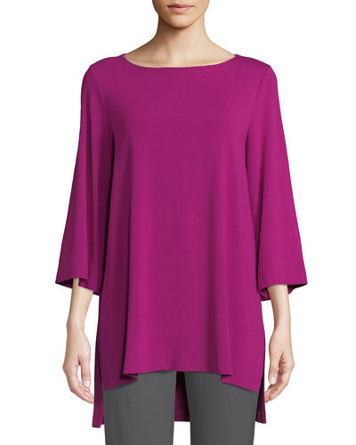 Viscose Jersey 3/4-Sleeve High-Low Top