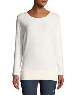 CUPCAKES AND CASHMERE IVERY CREWNECK LONG-SLEEVE SWEATSHIRT