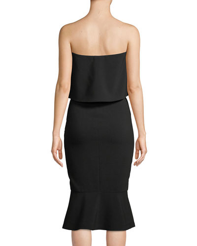 Conrad Strapless Bodycon Midi Cocktail Dress