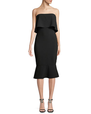 Likely Conrad Strapless Bodycon Midi Cocktail Dress