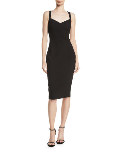 Alexia Cross-Back V-Neck Midi Dress