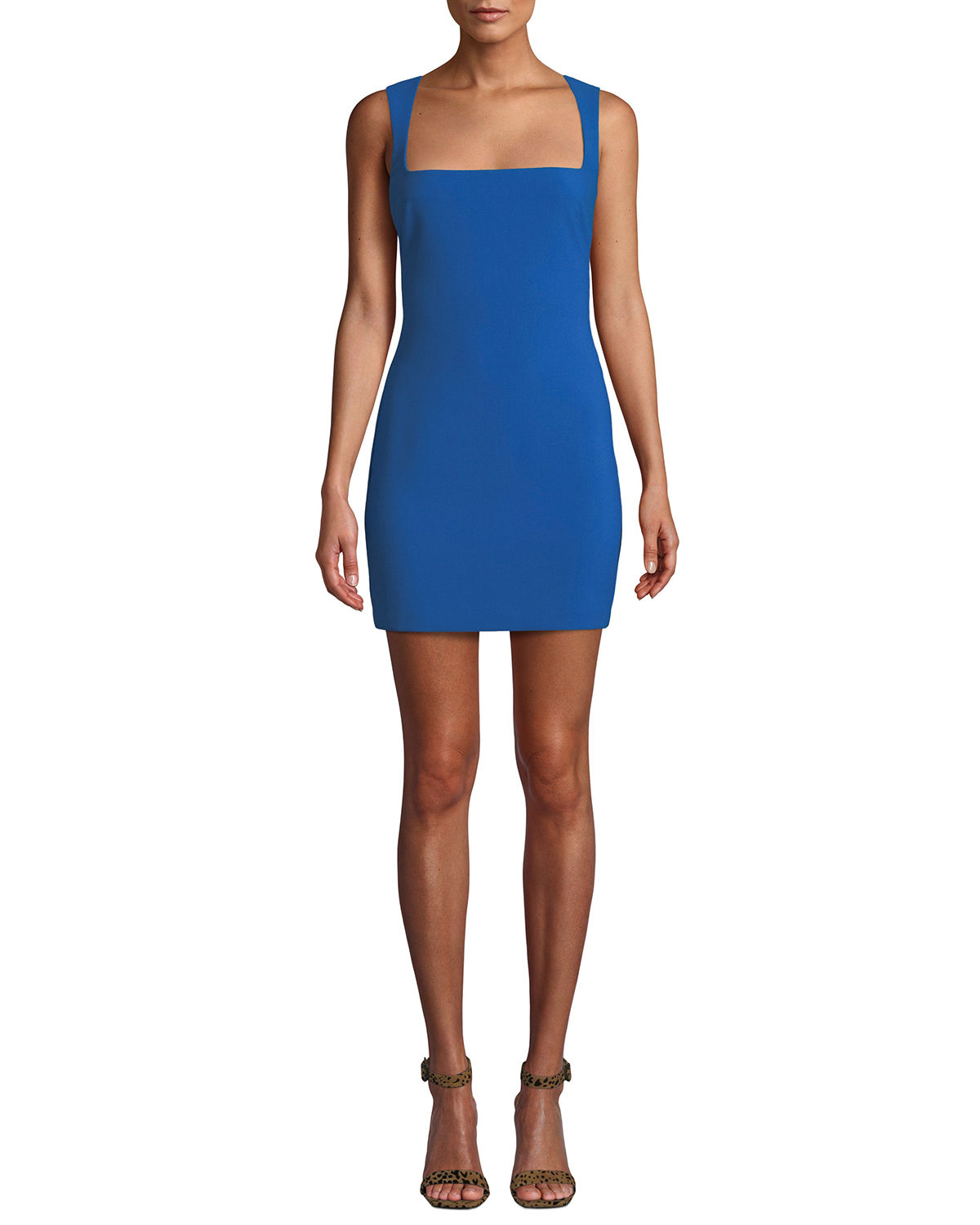 Josephine Sleeveless Square-Neck Mini Dress