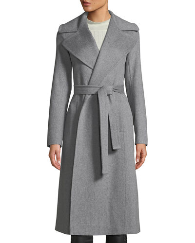Maxi Wrap Wool Coat