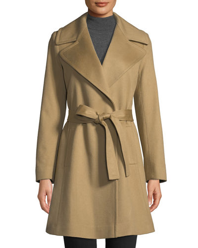 Cashmere Self-Tie Wrap Coat