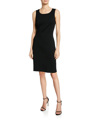 Milano-Knit Scoop-Neck Sheath Dress