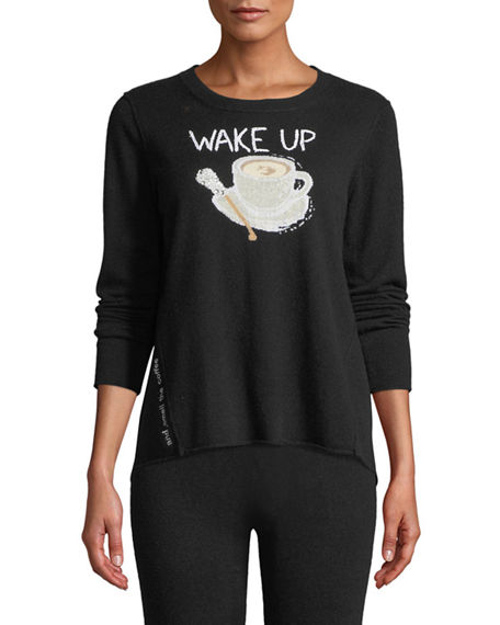 Lisa Todd Petite Wake Up & Smell the Coffee Cashmere Sweater