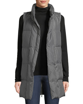 Lafayette 148 New York Quilted Puffer Down Vest