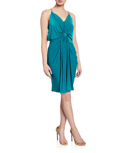 Domino Slinky Jersey Midi Cocktail Dress