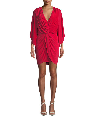 Teget Draped Cocktail Dress