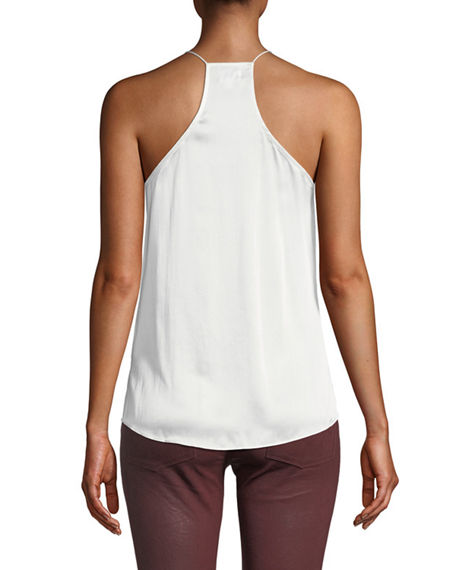 Image 2 of 2: Cami NYC The Racer Silk Charmeuse Camisole w/ Lace