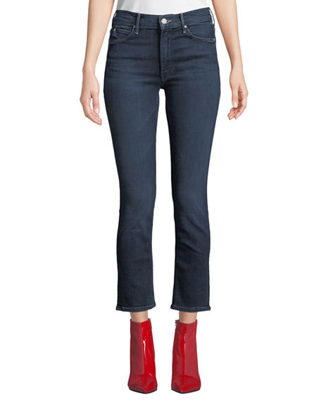 Mother THE MID-RISE DAZZLER STRAIGHT-LEG JEANS