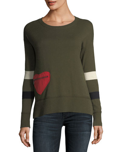 Lisa Todd Petite Heartthrob Cotton-Cashmere Sweater