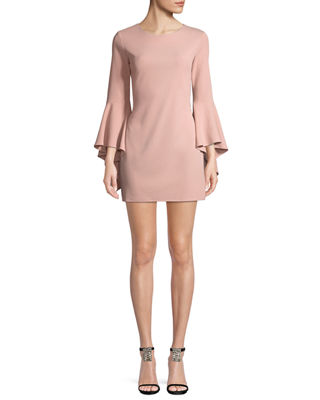 JAY X JAYGODFREY Bell-Sleeve Sheath Mini Cocktail Dress