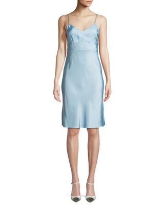 Helmut Lang Compact Viscose Slip Dress