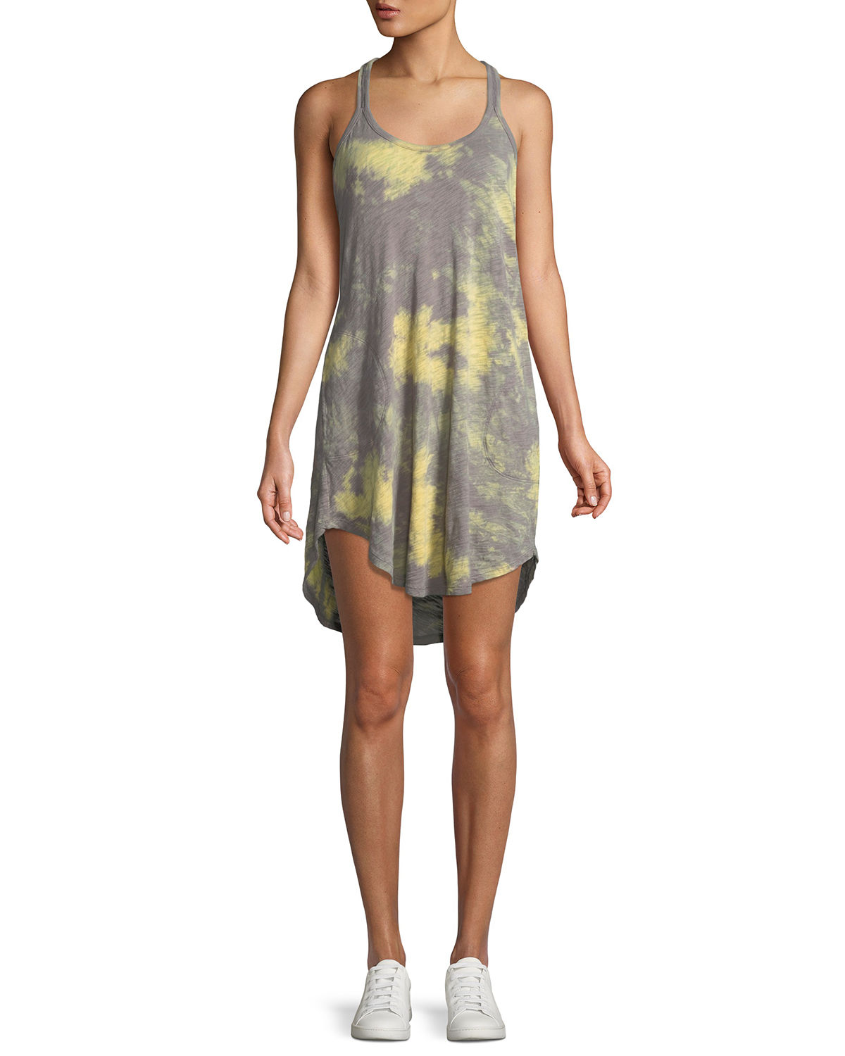 Tie-Dye Scoop-Neck Racerback Cotton Tank Dress