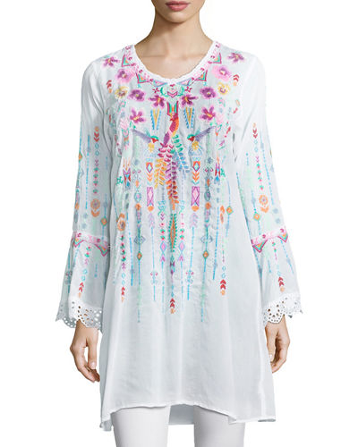 Lulu Embroidered Georgette Tunic