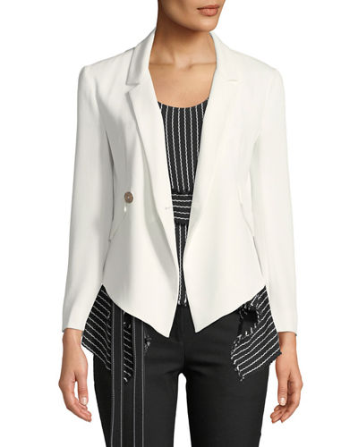 Easy Fluid One-Button Crepe Blazer