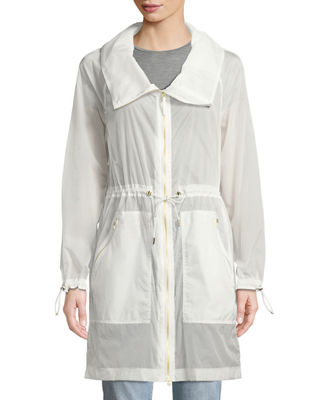 Mackage Ellia Packable Long Rain Coat w/ Removable
