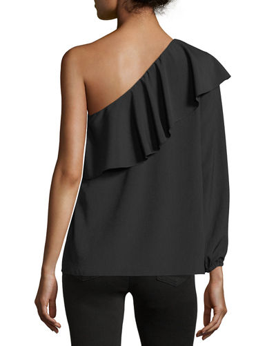 One-Shoulder Ruffled Top