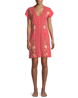 Johnny Was Libbie V-Neck Tunic Dress , Plus