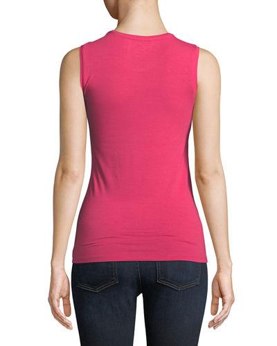 Soft Touch Sleeveless Crew