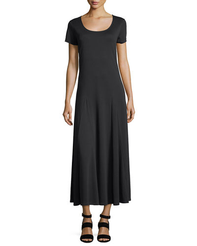Cotton Interlock Scoop-Neck Maxi Dress, Petite