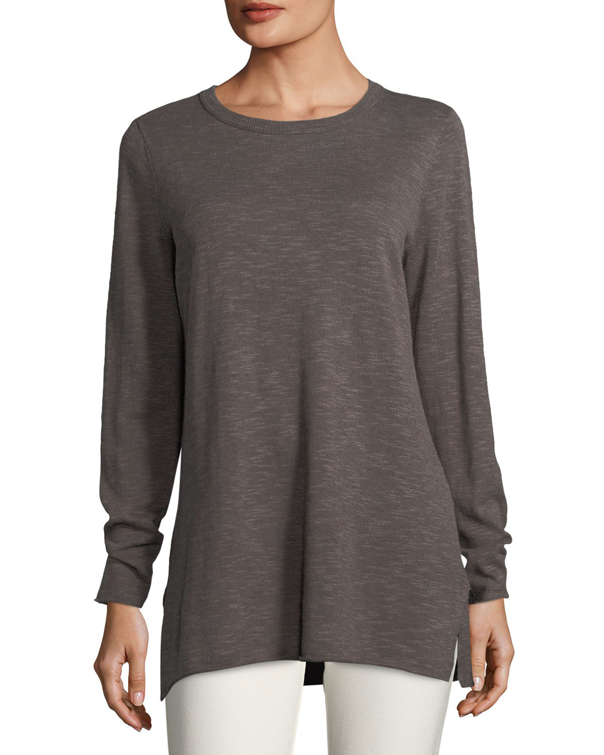 Easy Long-Sleeve Pullover Tunic, Petite