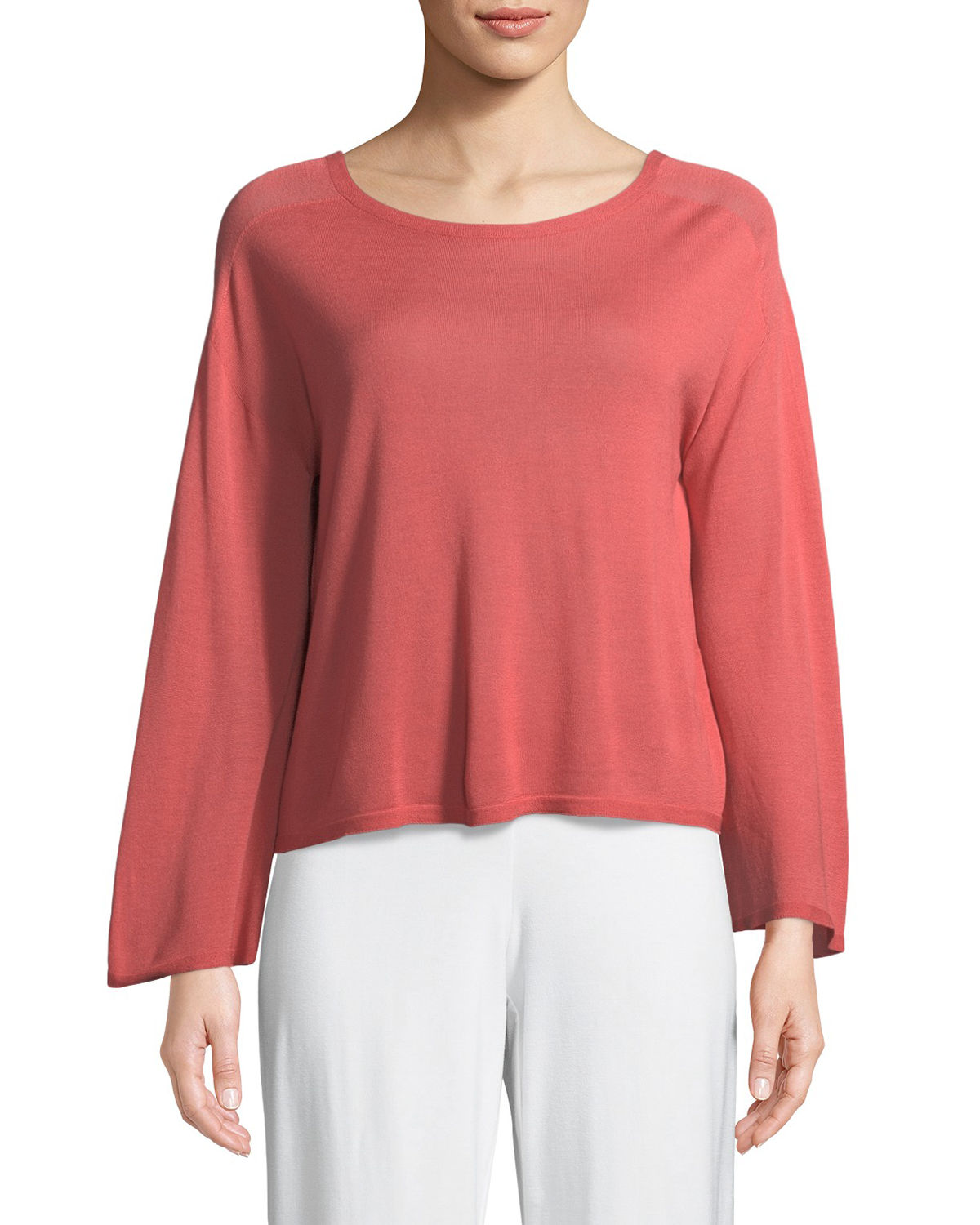 Seamless Sleek Bell-Sleeve Top, Plus Size