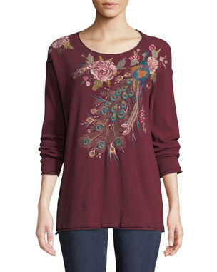 Johnny Was Quito Long-Sleeve Thermal Embroidered Top 5a2f89f33e51